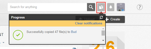 Check the success of your file uploads