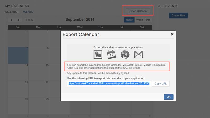 You can export your calendar