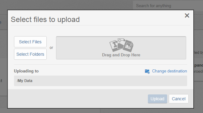Drag or drop files to upload