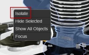 "Select ""Isolate"" parts"