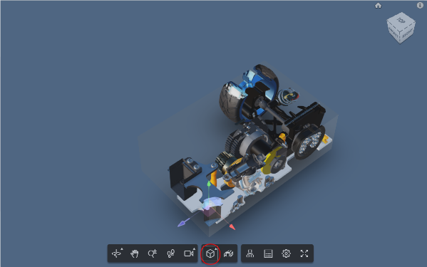 Adjust box or just click on part of the model
