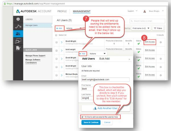 Step 8: Click Edit Access and assign an available entitlement to each.