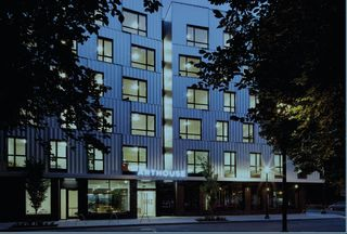 The Art House is a six-story, 48,000 SF mixed-use student housing project in Downtown Portland, which was designed for the art students of the Pacific Northwest College of Art. There are artwork galleries, workspaces, and even dormitories!