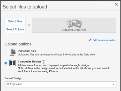 Upload you files into A360